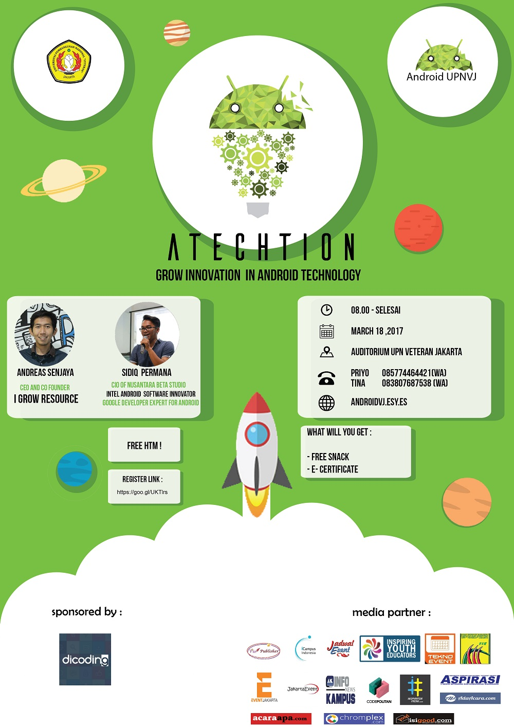 Seminar Android Technology and Innovation (ATECHTION) - UPN Veteran Jakarta, 18 Maret 2017