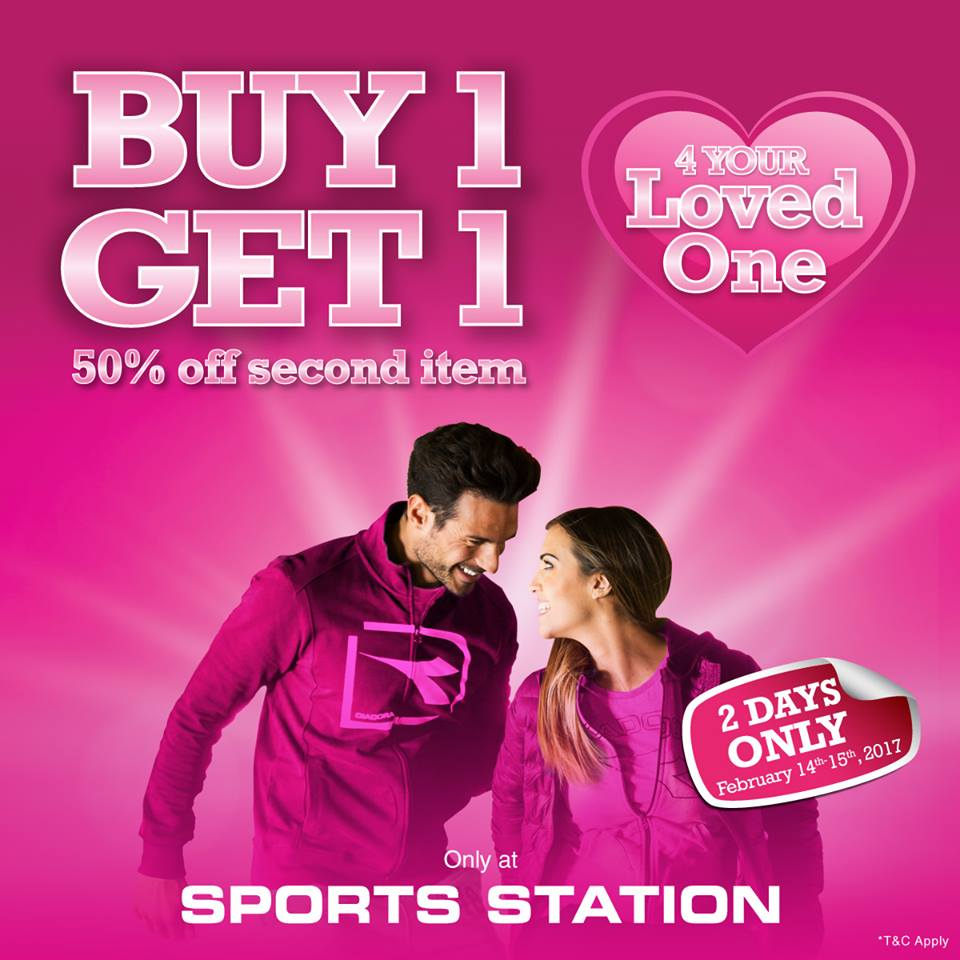 Sports Station 50% Off Second Item, Periode 14 - 15 Februari 2017