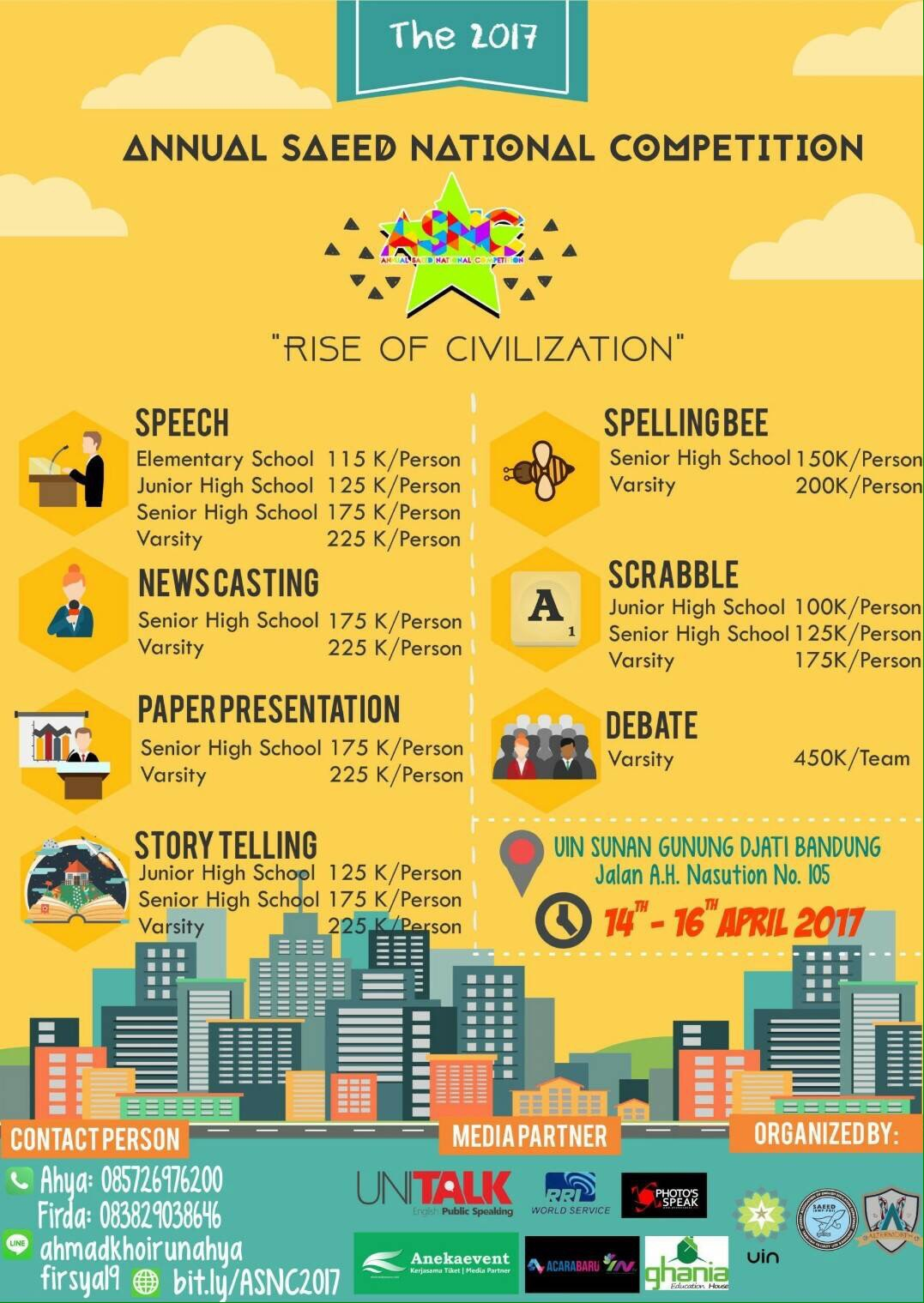 ASNC (Annual SAEED National Competition) - UIN SGD Bandung, 14 - 16 April 2017