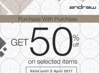 Andrew Purchase with Purchase, Periode Sampai 2 April 2017