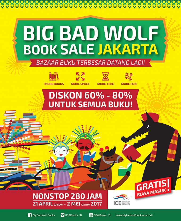 Big Bad Wolf Book Sale - ICE BSD City, 21 April - 02 Mei 2017
