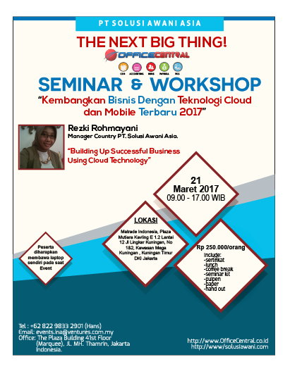 Building Up Succesfull Business using Cloud Technology - Jakarta, 21 Maret 2017