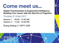 Digital Transformation & Augmented Intelligence: Building Your Career with The New Era of Cognitive - UGM, 6 April 2017