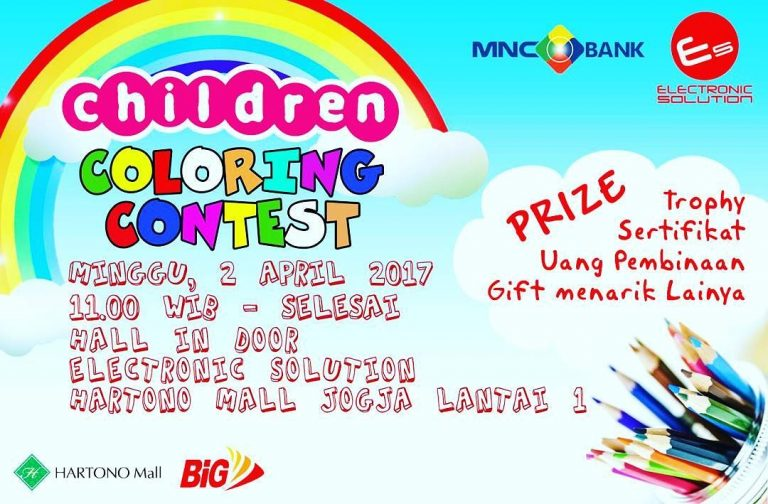 "Electronic Solution ""Children Coloring Contest"" - Hartono Mall Yogyakarta, 2 April 2017"