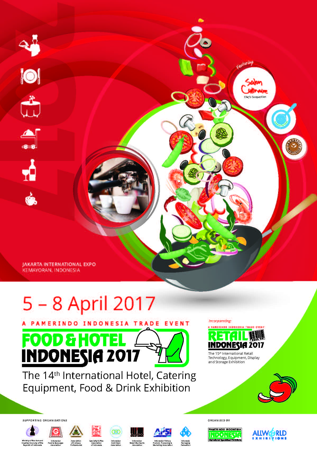 Food & Hotel Indonesia - Jakarta International Expo (JIExpo), 5 - 8 April 2017