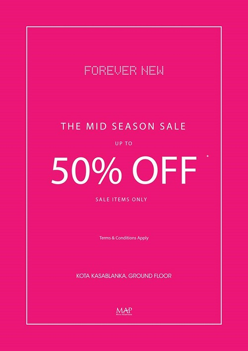 Forever New Mid Season Sale, Periode Maret 2017