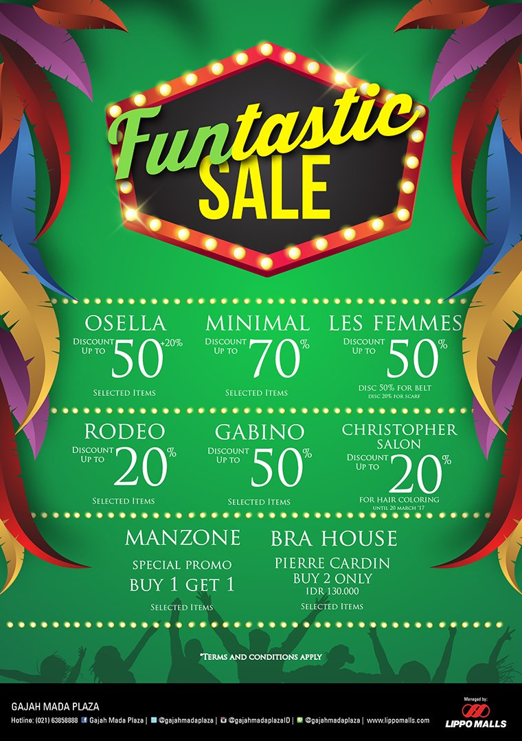 Funtastic Sale Gajah Mada Plaza, Periode 18 Maret - 30 April 2017