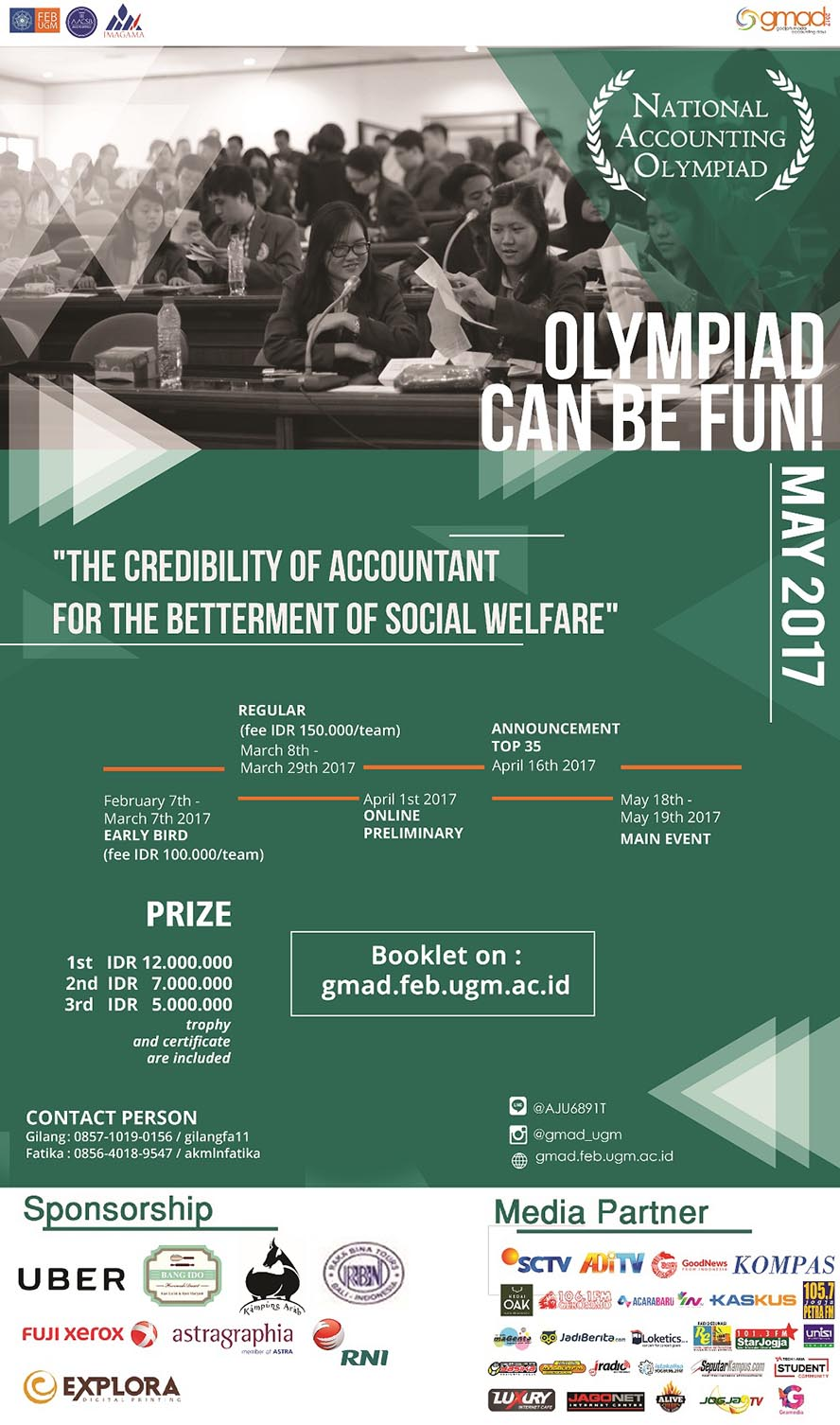 Gadjah Mada Accounting Days : National Accounting Olympiad, 18 - 19 Mei 2017