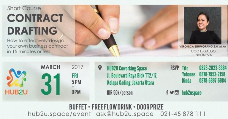 How to Effectively Design Your Own Business Contract in 15 Minutes or Less - HUB2U Coworking Space, 31 Mar'17