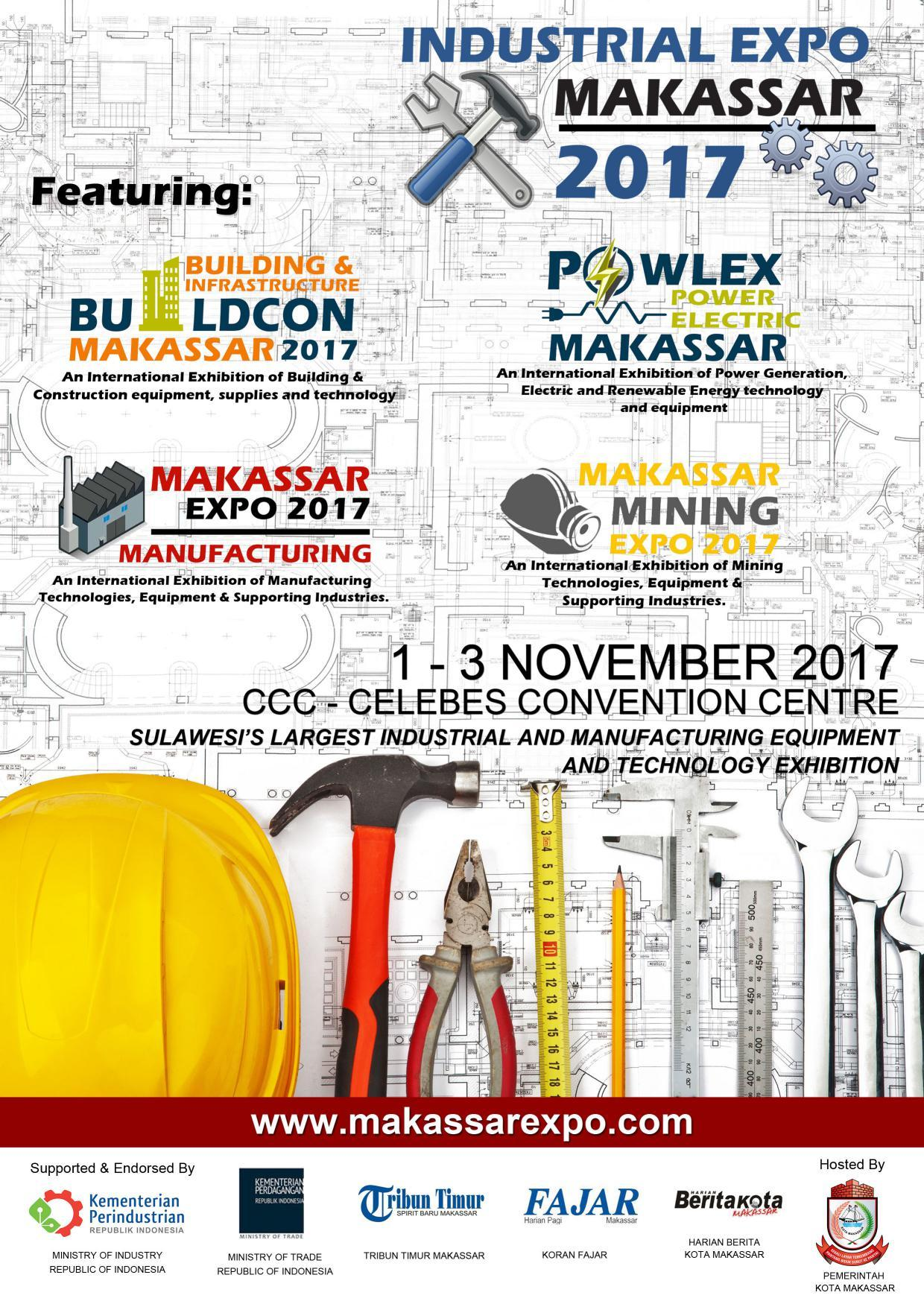 Industrial Expo Makassar - Celebes Convention Centre, 1 - 3 November 2017