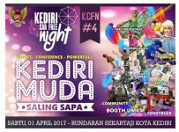 Kediri Car Free Night #4 : Kediri Muda Saling Sapa, 1 April 2017