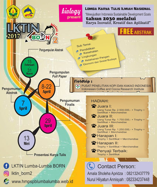 LKTIN Biology Innovation and Research Competition 2017 - Universitas Jember