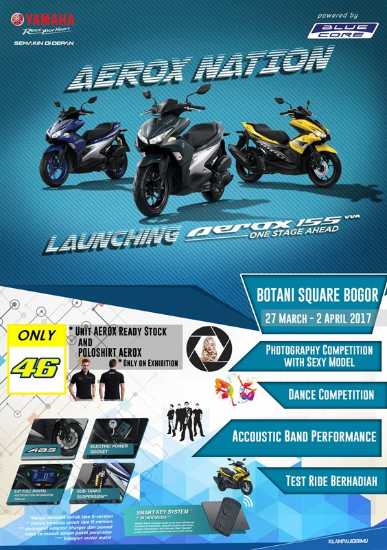 Launching Yamaha Aerox 155 VVA : Photography dan Dance Competition - Botani Square Bogor, 1 April 2017