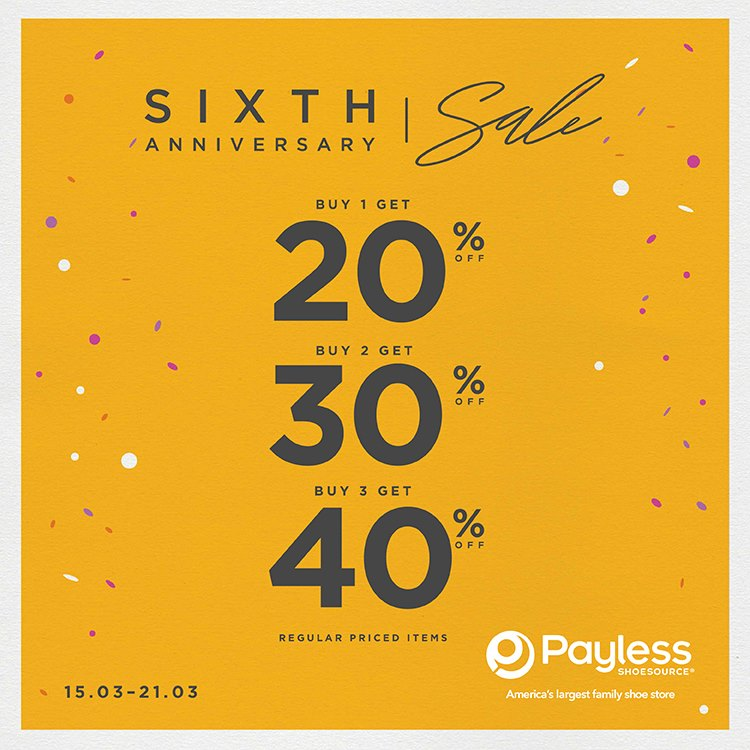 Payless Anniversary Sale, Periode 15 - 21 Maret 2017