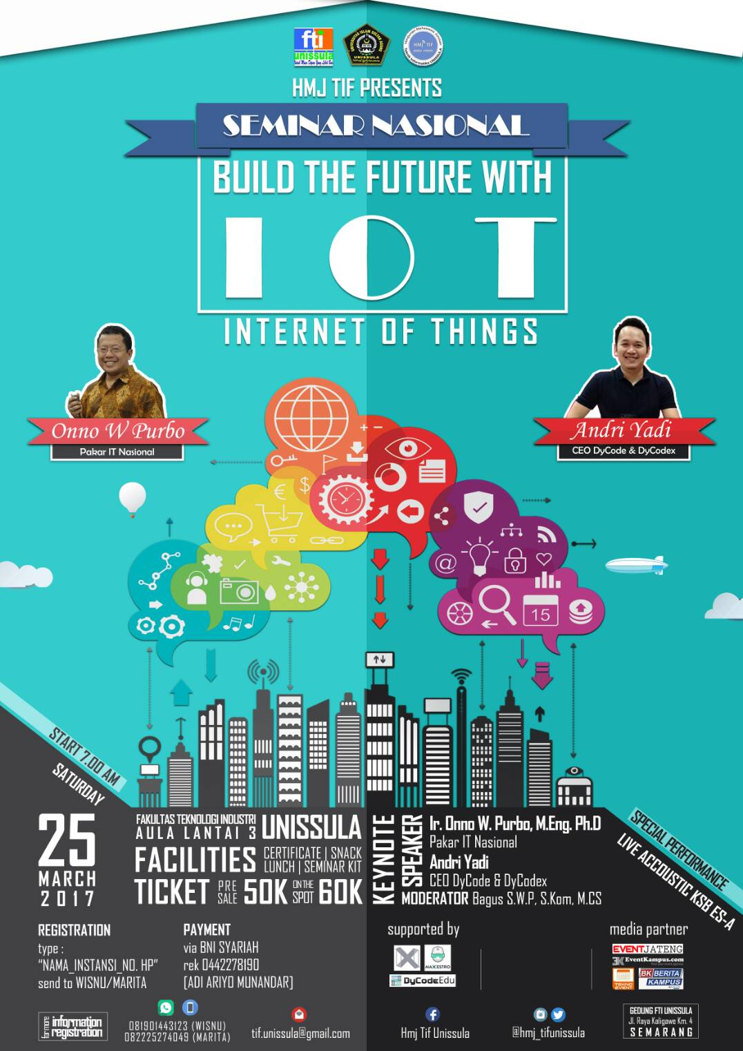 Seminar Nasional Internet of Things - UNISSULA, 25 Maret 2017