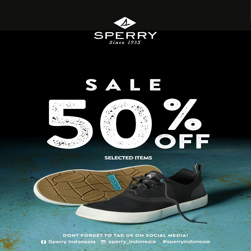 Sperry Sale 50% - Periode 24 Maret - 2 April 2017