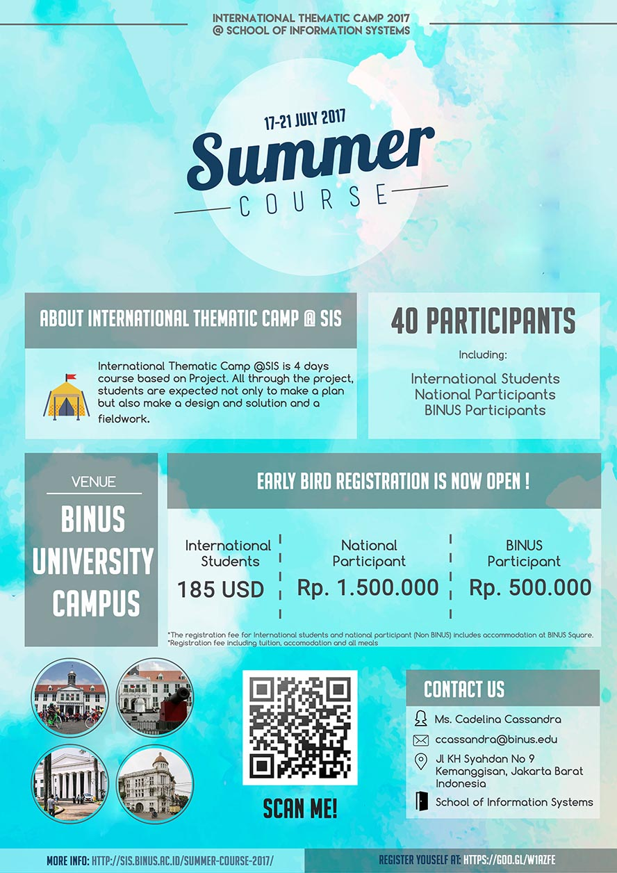 Summer Course International Thematic Camp 2017 @ School of Information Systems