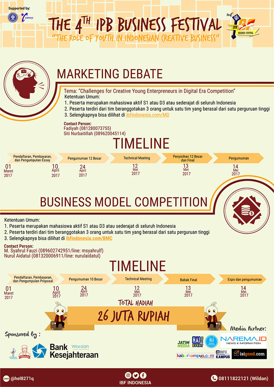 The 4th IPB Business Festival : Marketing Debate and Business Model Competition