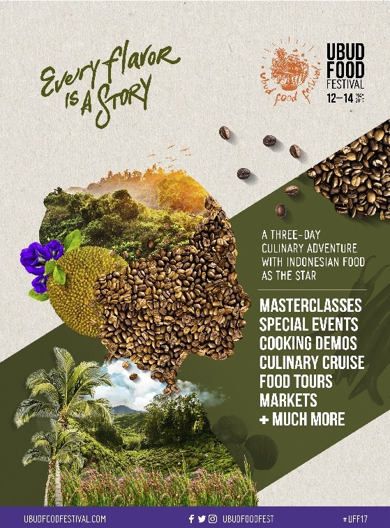 "Ubud Food Festival ""Every Flavor is a Story"" - Bali, 12 - 14 Mei 2017"