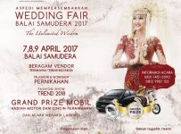 Wedding Fair Balai Samudera - Jakarta, 07 - 09 April 2017