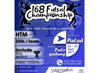 "168 Futsal Championship ""Show Your Passion, Be A Champion"" - Futsal Palad Pulogadung Jakarta, 22 - 23 April 2017"