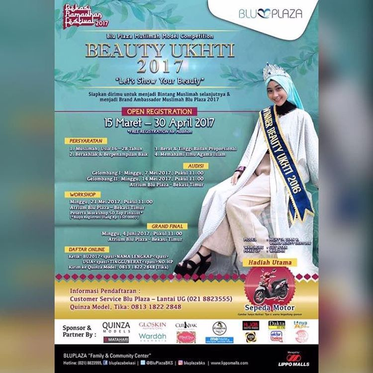 "Beauty Ukhti 2017 ""Let's Show Your Beauty"" - Blu Plaza Bekasi"
