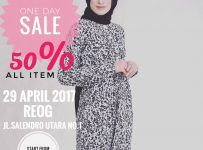 Colour Hijab Bandung One Day Sale 50% All Item, Periode 29 April 2017