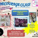 Decoupage Class #Season2 - UMKM Center Srondol Banyumanik Semarang, 7 Mei 2017