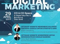 Dewatalks Digital Marketing Seminar - Co&Co Space Bandung, 29 April 2017