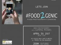 #Food2genic Foodphotograhy Sharing - Giggle Box Bandung, 30 April 2017