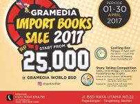 Gramedia Import Books Sale - Gramedia World BSD Tangerang, 1 - 30 April 2017