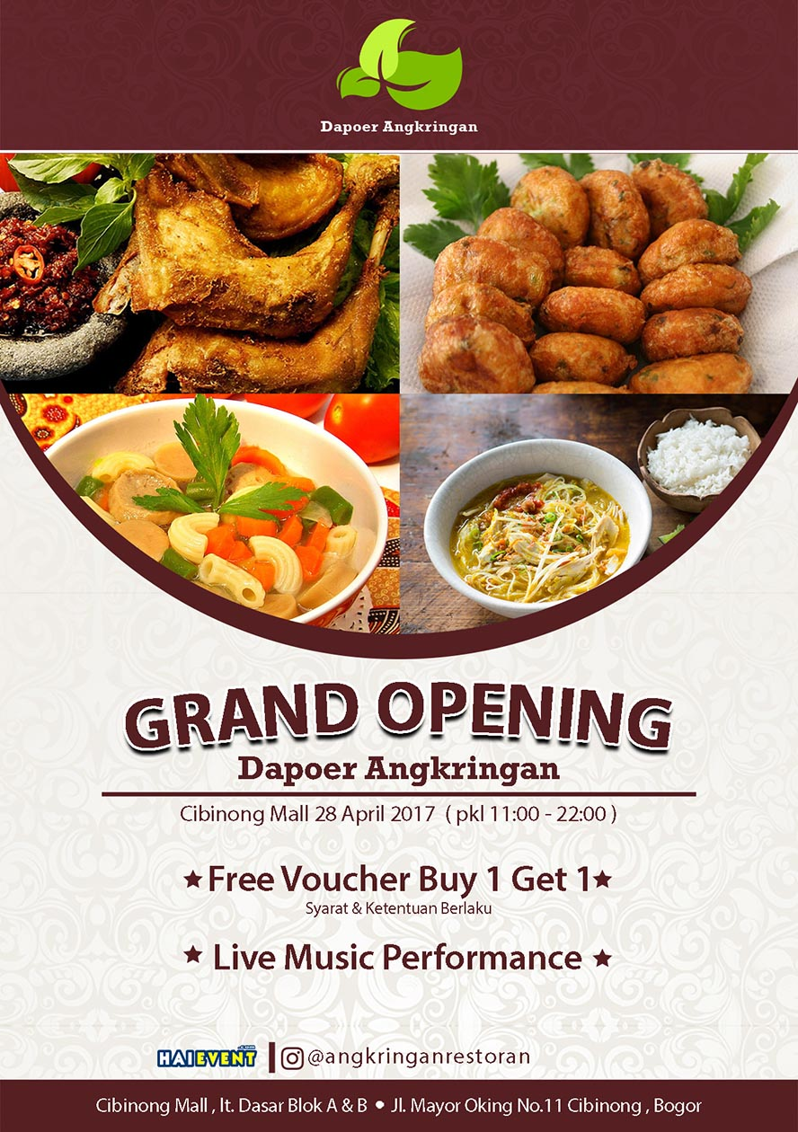Grand Opening Dapoer Angkringan - Cibinong Mall, 28 April 2017