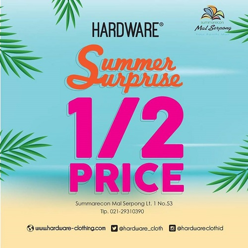 Hardware Summer Surprise 1/2 Price, Periode April 2017