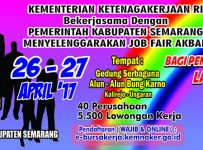 Job Fair Semarang - Alun-Alun Bung Karno Kalirejo, 26 - 27 April 2017