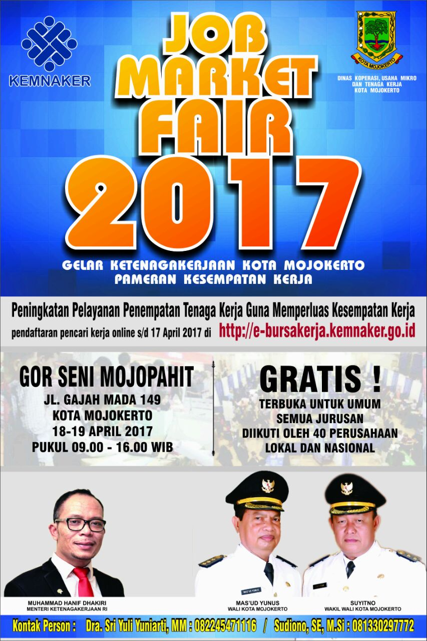 Job Market Fair - GOR Seni Mojokerto, 18 - 19 April 2017