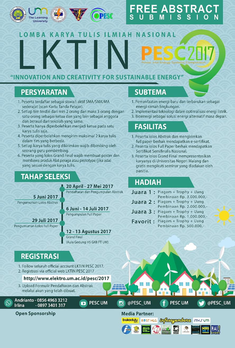 LKTIN PESC (Power Energy System Competition) 2017 - Universitas Negeri Malang