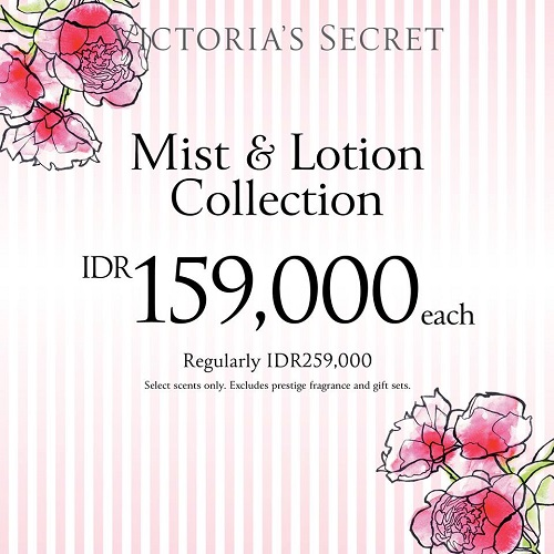 Mist & Lotion Victoria's Secret Special Price, Periode Sampai 5 April 2017