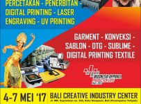 Pameran Mesin Percetakan & Printing - Bali Creative Industry Center, 4 - 7 Mei 2017