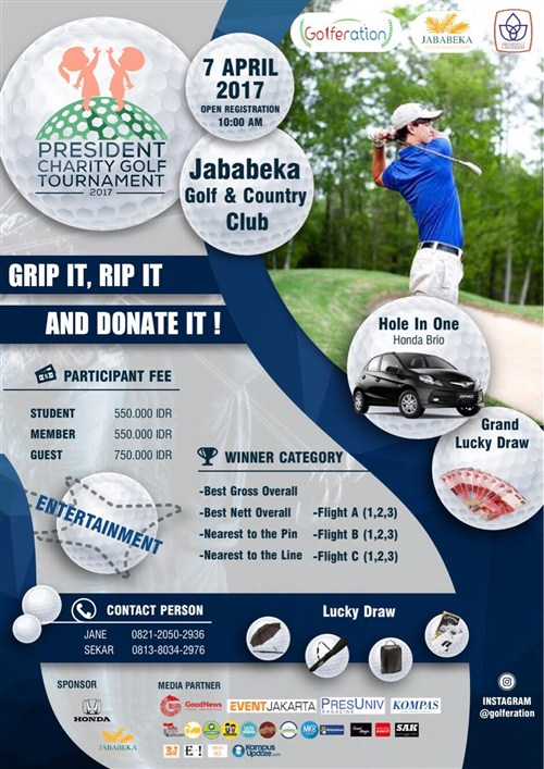 President Charity Golf Tournament - Jababeka Golf & Country Club, 7 April 2017
