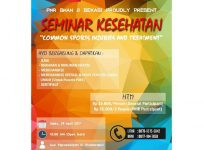 "Seminar Kesehatan ""Common Sports Injuries and Treatment"" - SMAN 2 Bekasi, 29 April 2017"