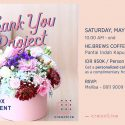 Thank You Project | Flower Box Arrangement Workshop - He Brews Coffee Corner PIK Jakarta, 06 Mei 2017