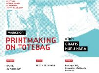 Workshop Printmaking on Totebag - Universitas Multimedia Nusantara, 20 April 2017