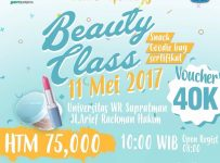 "Beauty Class ""Make Up Party"" - Universitas WR Supratman Surabaya, 11 Mei 2017"