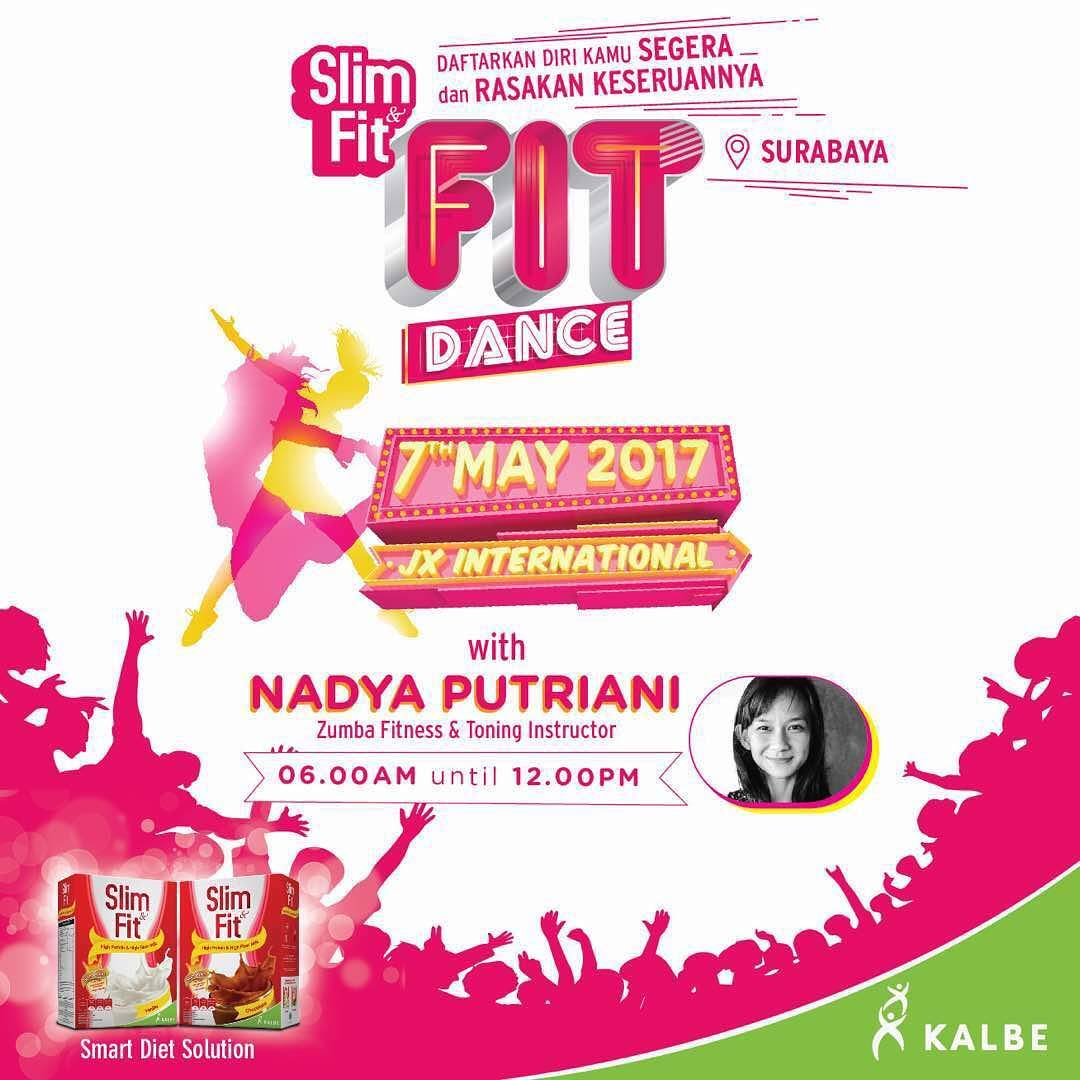"Fit Dance ""Senam Zumba ala Slim&Fit"" - JX International Surabaya, 7 Mei 2017"