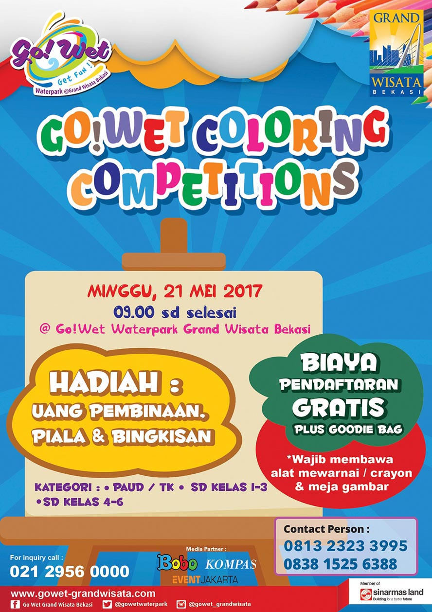 Go!Wet Coloring Competitions - Go! Wet Waterpark Bekasi, 21 Mei 2017