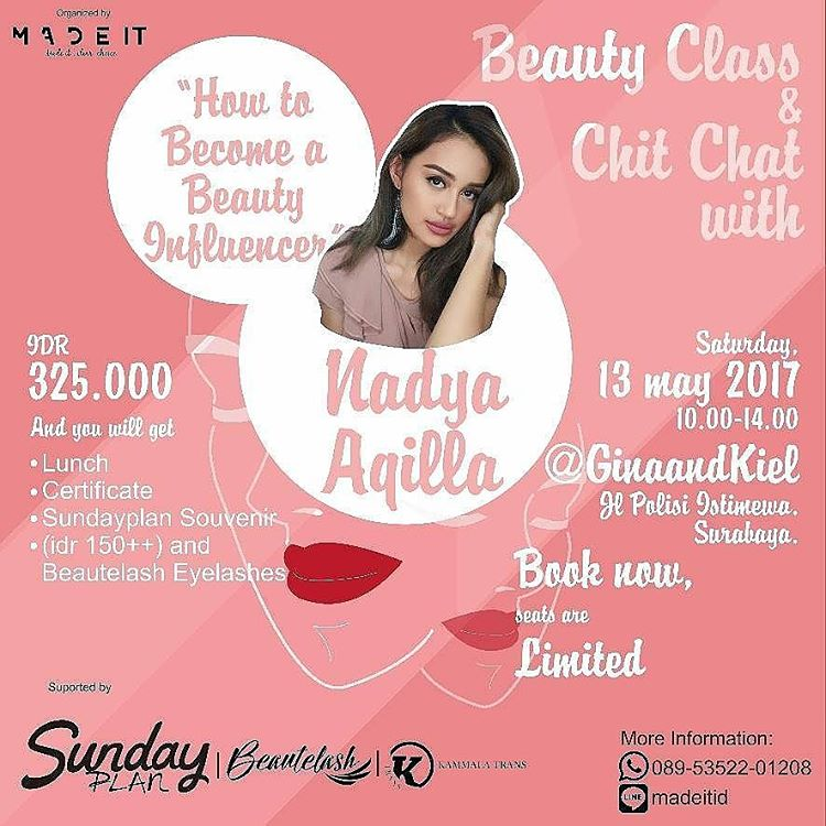 How to Become a Beauty Influence - Gina & Kiel Surabaya, 13 Mei 2017