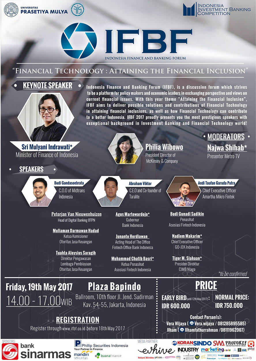 Indonesia Finance and Banking Forum - Plaza Bapindo Jakarta, 19 Mei 2017