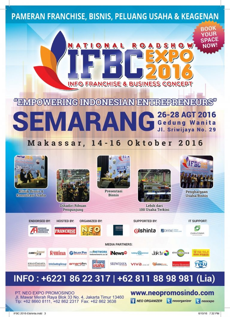 Info Franchise & Business Concept (IFBC) - JX International Surabaya, 5 - 7 Mei 2017