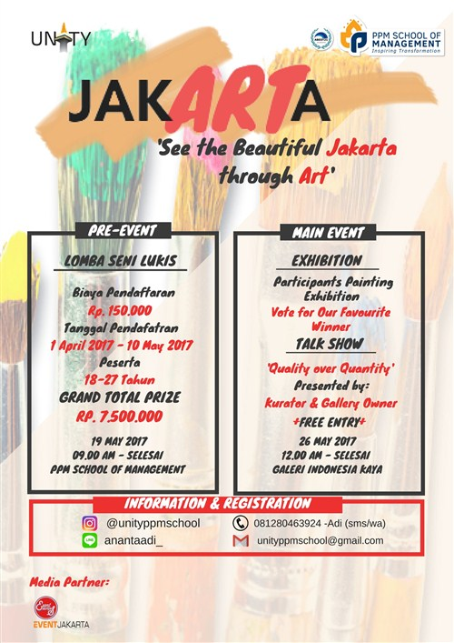 "JAK'ART'A ""See the Beautiful Jakarta Through Art"" - Galeri Indonesia Kaya Jakarta, 26 Mei 2017"