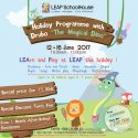 "LEAP Holiday Programme with Drubo ""The Magical Dino"" - LEAP SchoolHouse Jakarta, 12 - 16 Juni 2017"